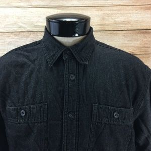 Wrangler Sherpa Lined Button Front Shirt Black